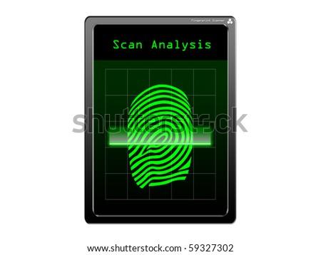 Fingerprint scanner - stock photo
