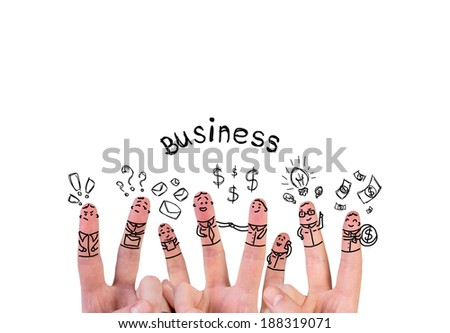 Fingers in business communication. - stock photo