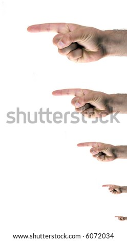 fingers pointing left - stock photo