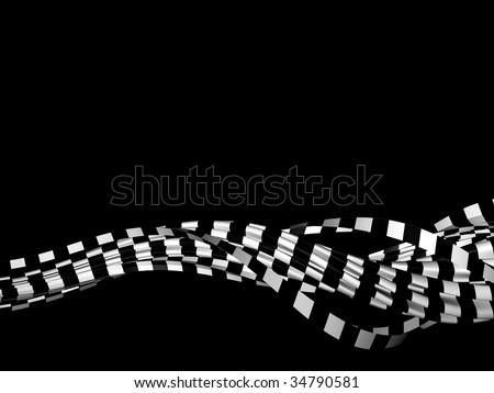 finish flag - stock photo