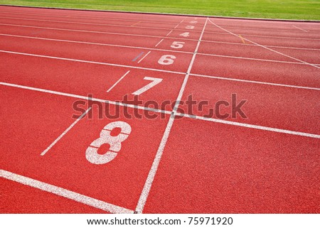 finish point of running track