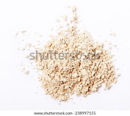 Finishing face powder on white background - stock photo