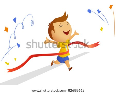 Finishing runner with finished ribbon. Vector available.