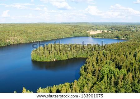 Finland. Aulangonjarvi lake - stock photo