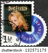 FINLAND - CIRCA 2012: A stamp printed in Finland shows Anna Eriksson, series on Finnish music has reached the 1990's, circa 2012 - stock photo