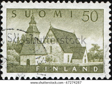 FINLAND - CIRCA 1961: A stamp printed in Finland shows Lammi Church, circa 1961