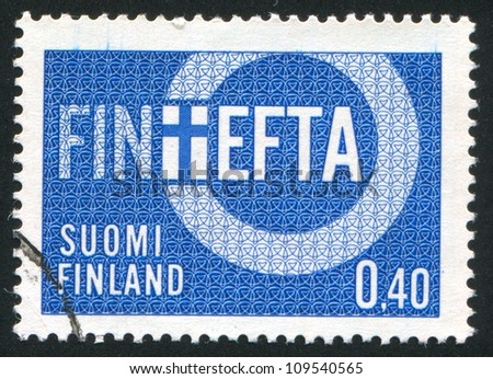 FINLAND - CIRCA 1967: stamp printed by Finland, shows Symbolic Depiction for Finland Participation to the Finland-European Free Trade Association Treaty, circa 1967