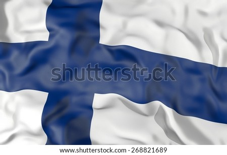 Finland corrugated flag 3d illustration  - stock photo