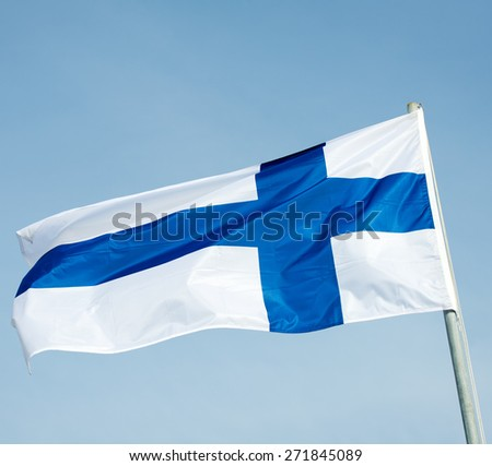 Finland Flag - Flag of Finland - Finnish Flag - stock photo