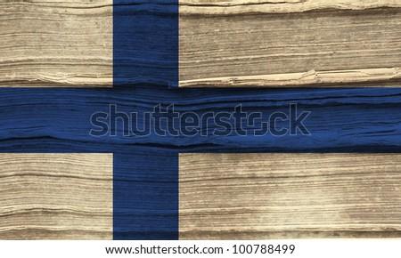 Finland grunge flag background - stock photo