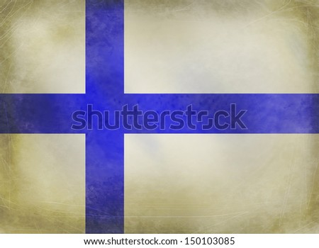 Finland grungy flag - stock photo