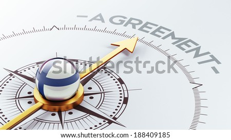 Finland High Resolution Agreement Concept - stock photo