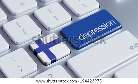 Finland High Resolution Depression Concept - stock photo