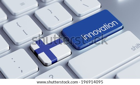 Finland High Resolution Innovation Concept - stock photo