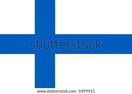 Finland national flag - stock photo