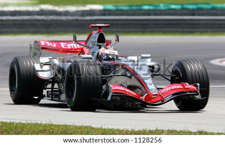 Finland's Formula One driver Kimi Raikonnen of Team McLaren Mercedes, 2006 - stock photo