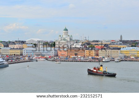Finland. View of Helsinki from the South Harbour