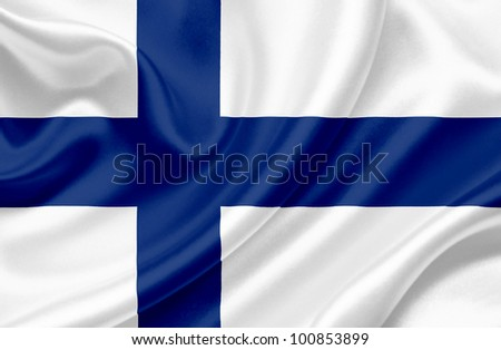 Finland waving flag - stock photo