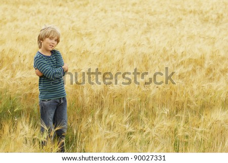 Finnish agriculture in the field a summer time. - stock photo
