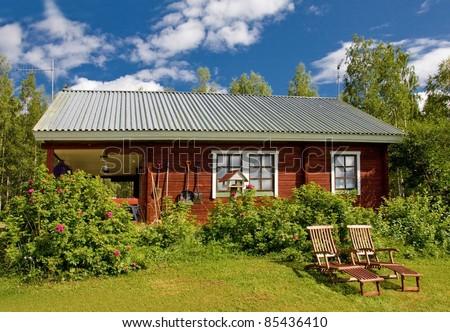 Finnish Cottage - stock photo