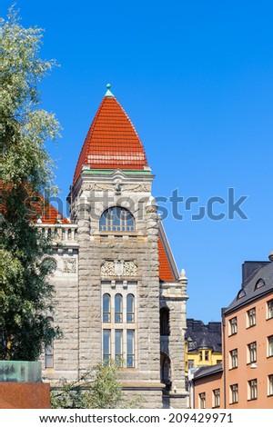 Finnish National Theatre  in  Helsinki, Finland. - stock photo