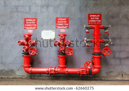 Fir Hydrants - stock photo