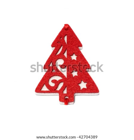 Fir tree toy - stock photo
