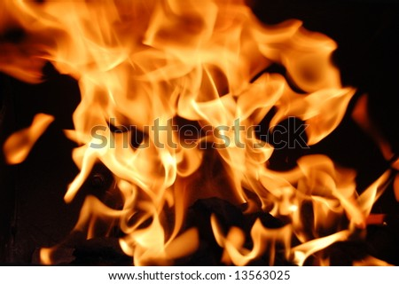 Fire 1 - stock photo