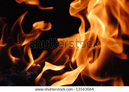 Fire 11 - stock photo