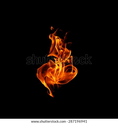 Fire. - stock photo