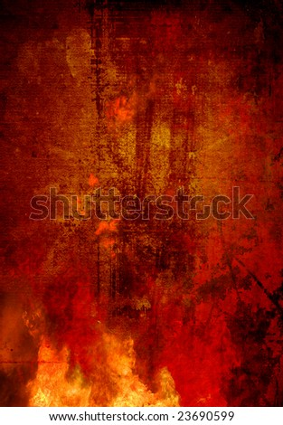 fire abstract background - stock photo
