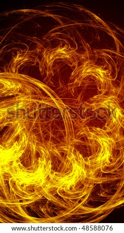 Fire abstract background for creative design. Dark red and orange