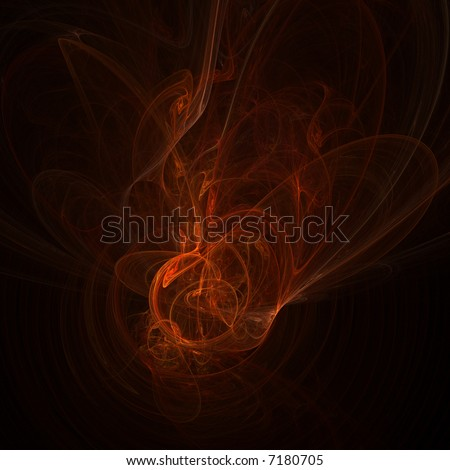 Fire abstract on black background - stock photo