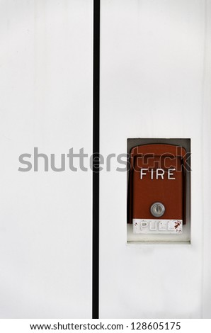 fire alarm against white background