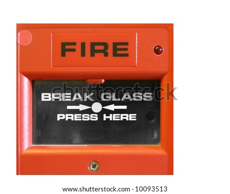 Fire alarm box for triggering alarm