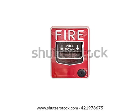 Fire alarm box isolate on white background