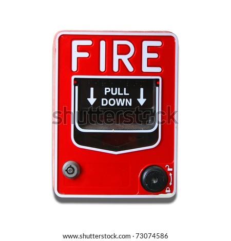 Fire alarm button - stock photo