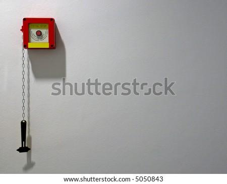 Fire alarm emergency point - stock photo