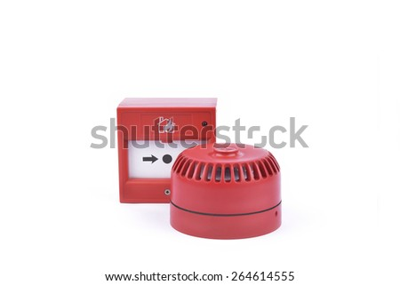 fire alarm system; selective focus - stock photo