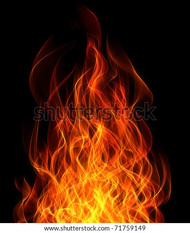 Fire and flame background - stock photo