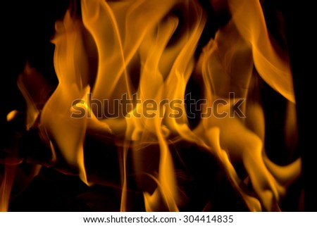 Fire and flames with a dark background