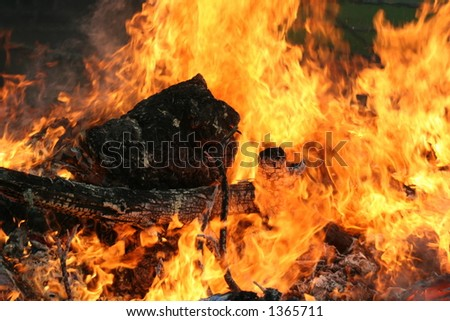 fire and hell - stock photo