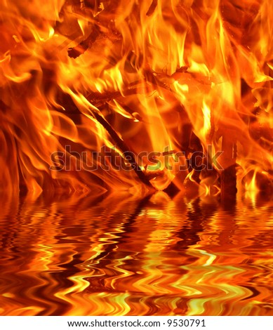 Fire and Water, hot background