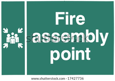 Fire Assembly Point vector - stock photo