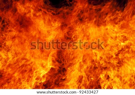 Fire background. - stock photo