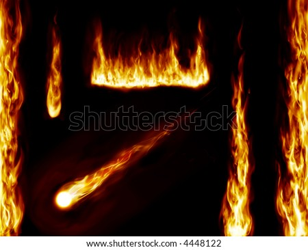 fire background design - stock photo