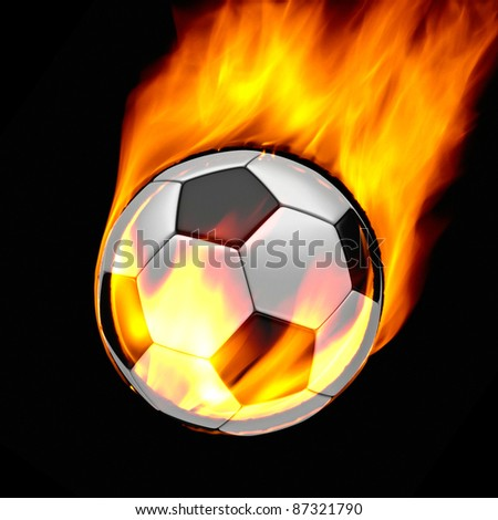 fire ball in black - stock photo