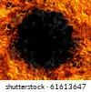 Fire black hole - stock photo