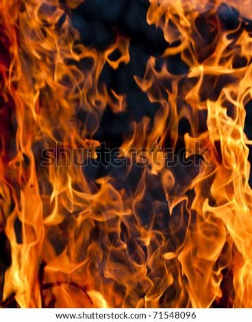 Fire blaze - stock photo