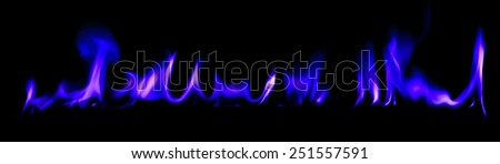 Fire blue light abstract background
